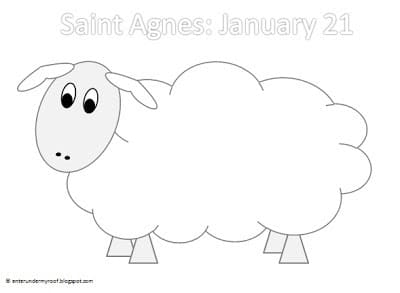 saint agnes lamb printable