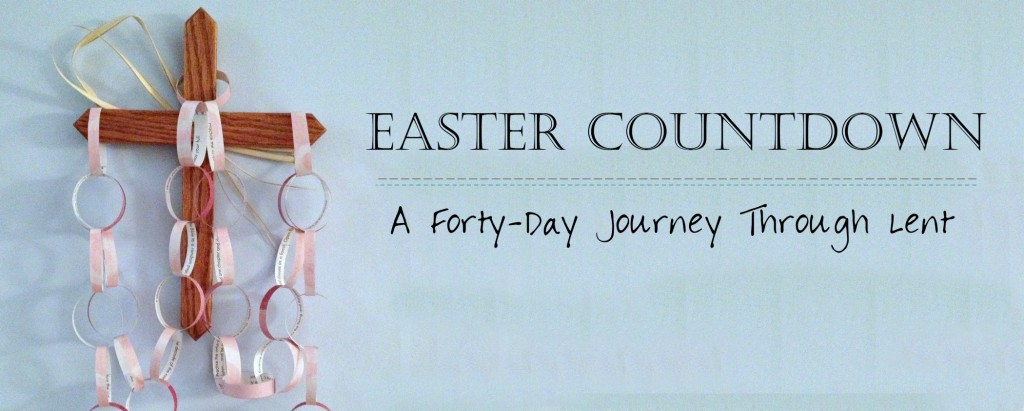 Faith and Fabric - Paper Easter Countdown Activity for Lent Main