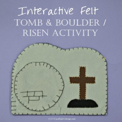 "ACTIVITY: Tomb and Boulder ""Stained Glass"" for Good Friday thru Easter"