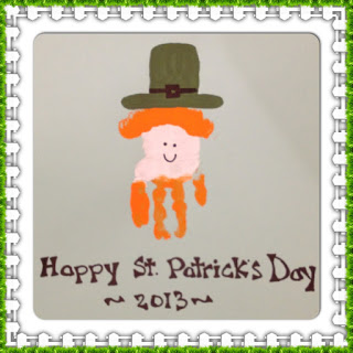 handprint craft saint patrick's day kids activity project leprechaun