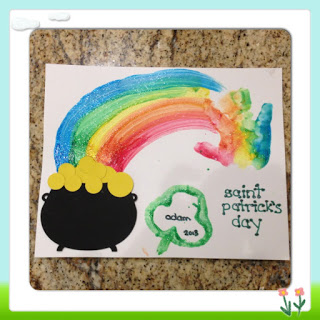 saint patrick's day handprint craft kids activity