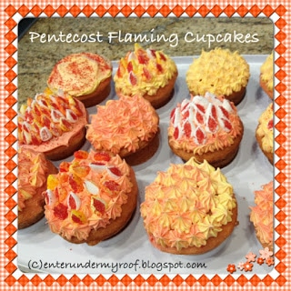 RECIPE: Pentecost Flaming Cupcakes