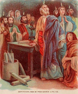 pentecost bible version tongues of flame