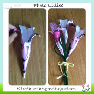 mother's day craft, mother's day, mother's day project, handprint craft, photograph flower, photo lillies, photo lily
