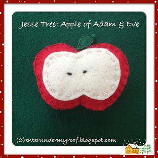 jesse tree adam and eve felt apple