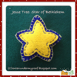 jesse tree felt star of bethlehem three maji