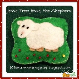 Jesse Tree Ornaments: Jesse the Shepherd, Son of Obed