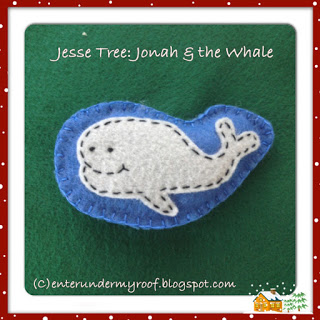 Jesse Tree Ornaments: Jonah & the Whale
