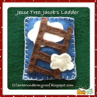 jesse tree, jacob's ladder, felt,