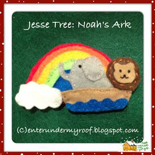 jesse tree noah's ark rainbow felt
