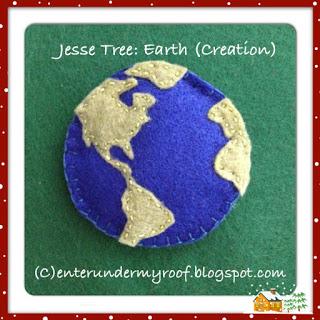 jesse tree, earth, creation, felt