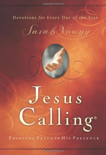 book club, book review, Jesus Calling Sarah Young