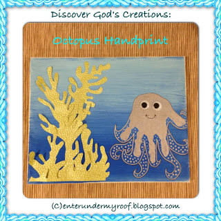 Discover God's Creations: Octopus Handprint Craft (hand prints)