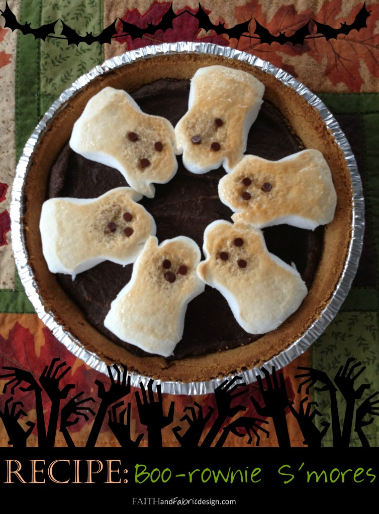 A Scary Halloween Dessert with Brownies, Pumpkins, and Ghost Peeps!