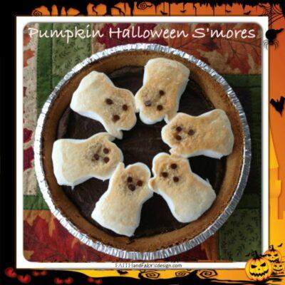 RECIPE: Halloween Desserts S'mores (Pumpkin Brownies with Peeps)