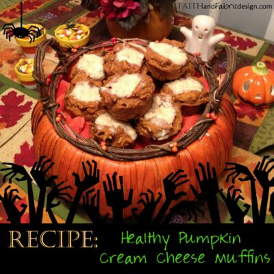 RECIPE: Healthy Pumpkin Muffins with Low-Fat Cream Cheese Filling