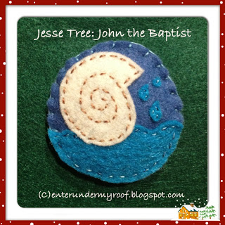 jesse tree john the baptist ornament
