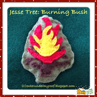 Jesse Tree Ornaments: Burning Bush (Moses)