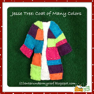 jesse tree coat of many colors ornament