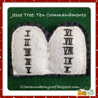 jesse tree felt ten commandments ornament
