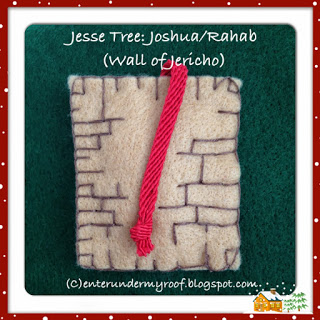 jesse tree ornament joshua rahab jericho advent calendar