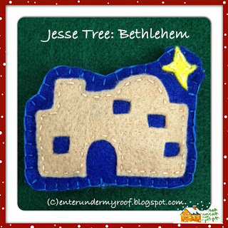 jesse tree felt bethlehem advent calendar