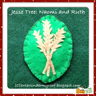 jesse tree naomi ruth felt ornament advent calendar