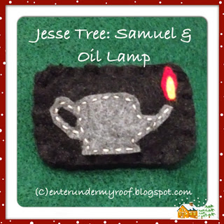 Jesse Tree Samuel Lamp of God Felt Ornament