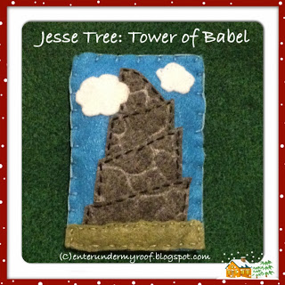 jesse tree felt tower of babel advent calendar