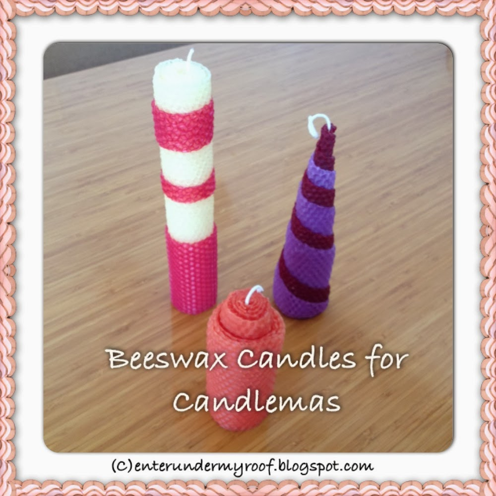 Making Beeswax Candles for Candlemas