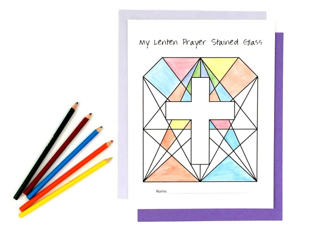 Faith and Fabric - Printable Lenten Prayer Stained Glass