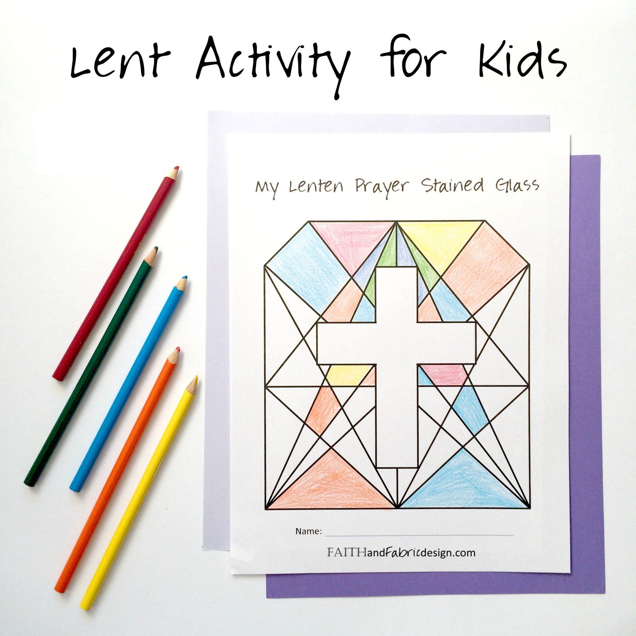 ACTIVITY: Lenten Prayer Stained Glass (Lent Activity for Kids)