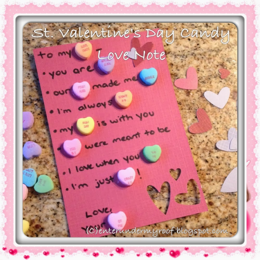 Candy Valentines And Love Note Idea For Your Valentine On Saint Valentineu0027s  Day