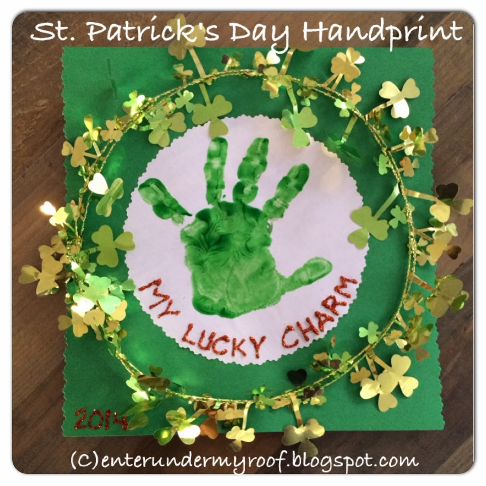 Saint (St.) Patrick's Day Handprint Craft for Kids - My Lucky Charm