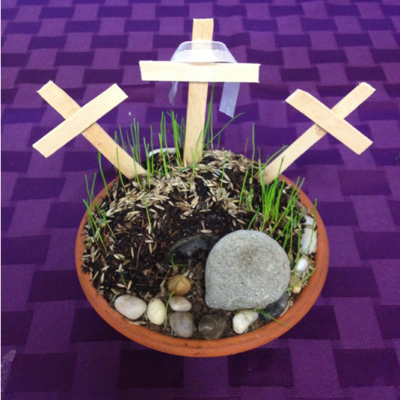 ACTIVITY: Empty Tomb and Mount Calvary Garden for Easter / Triduum (FREE PROJECT)