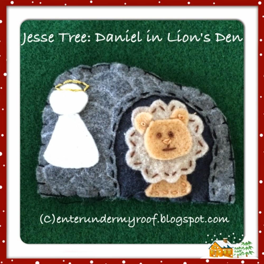 Jesse Tree Ornaments: Daniel in the Lion's Den