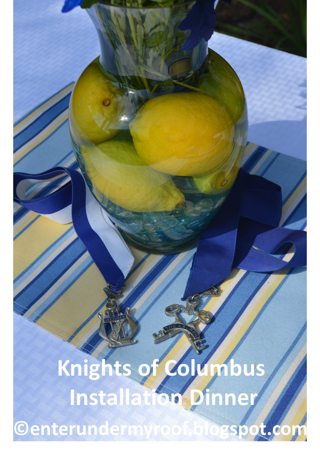 Knights of Columbus Installation Dinner Decorating Party Ideas