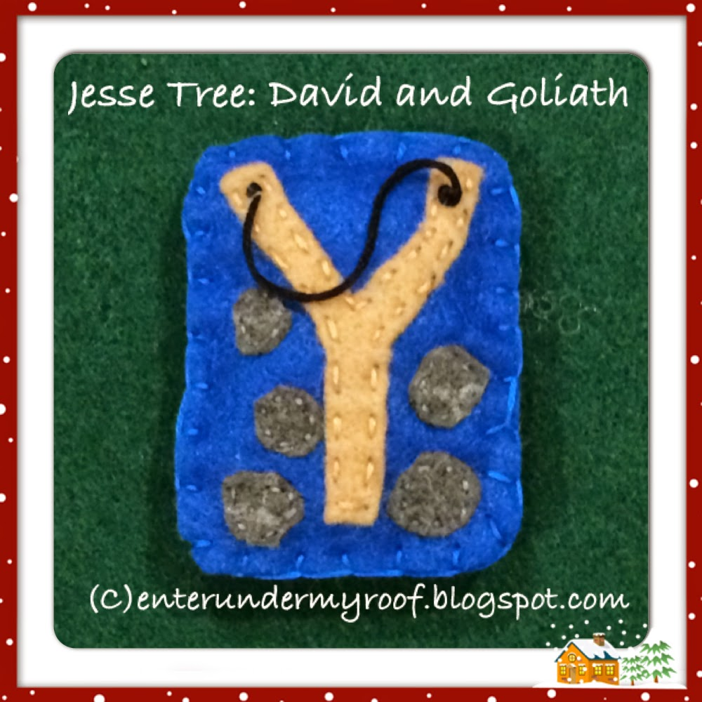 Jesse Tree Felt David Goliath Slingshot