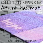 Quilted Sewing Advent Placemats Catholic
