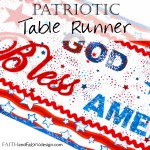 Catholic Quilts God Bless America Table Runner Fourth Of July