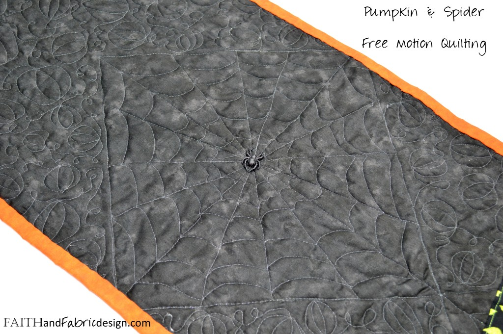 Halloween Table Runner Quilted