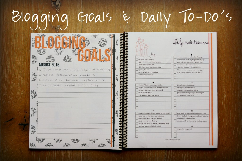 Catholic Blog Planner