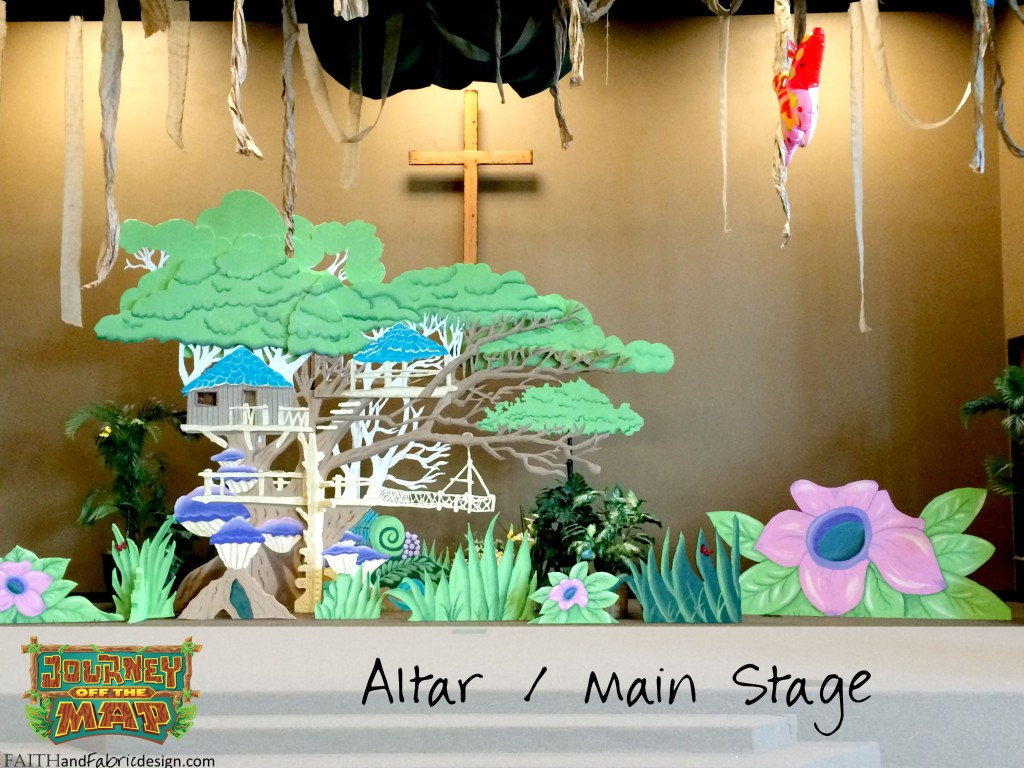 VBS Journey Off the Map Altar Stage Decorate