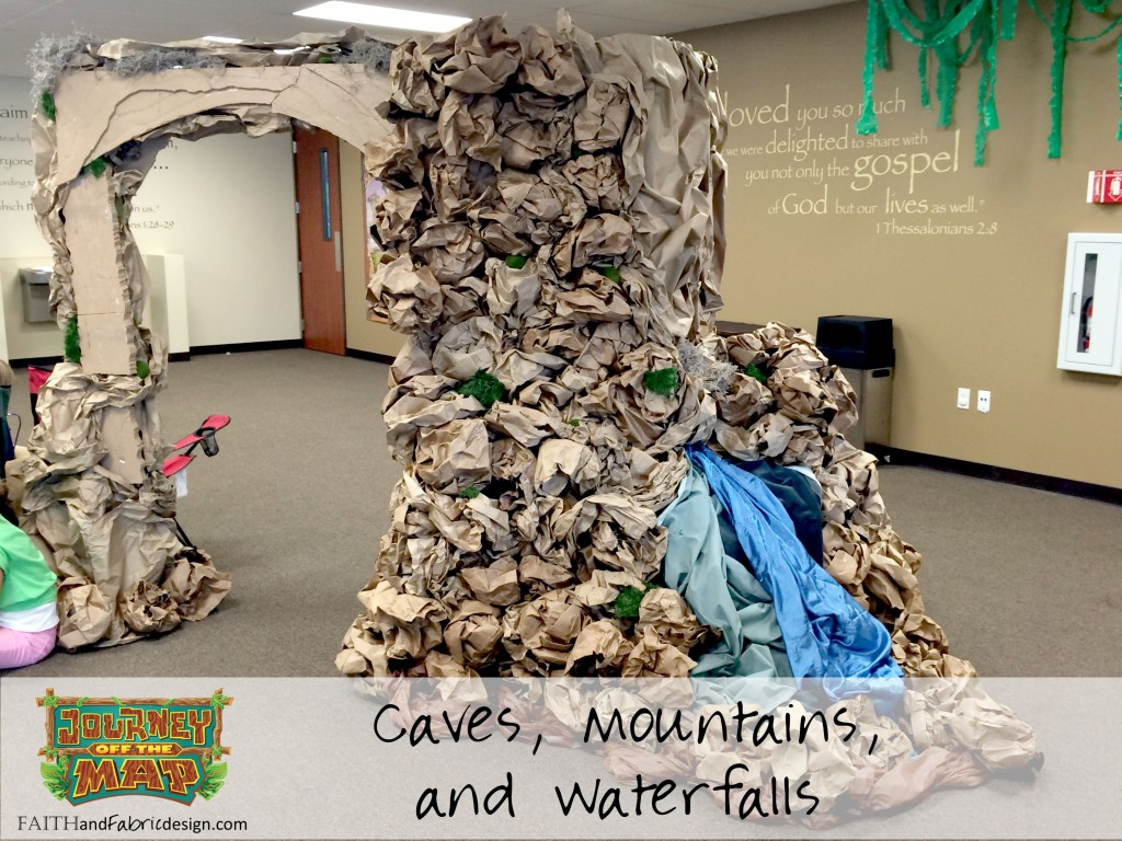 VBS Journey Off the Map Decorate Caves Mountains Waterfall