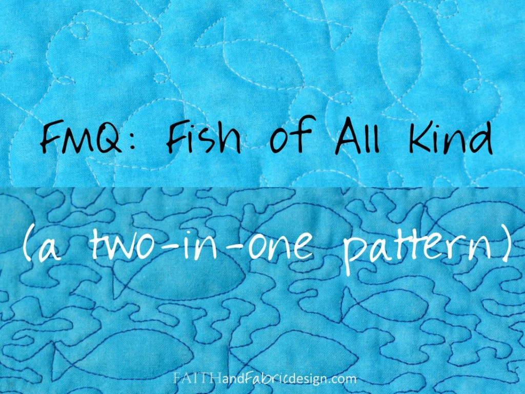 Free Motion Quilting Fish Pattern