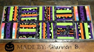 Halloween Strip String Quilt
