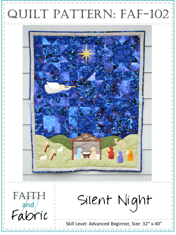 Silent Night Nativity Christmas Quilt Pattern Cover 2.jpg