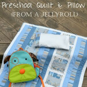 Preschool Jellyroll Quilt with Matching Pillowcase