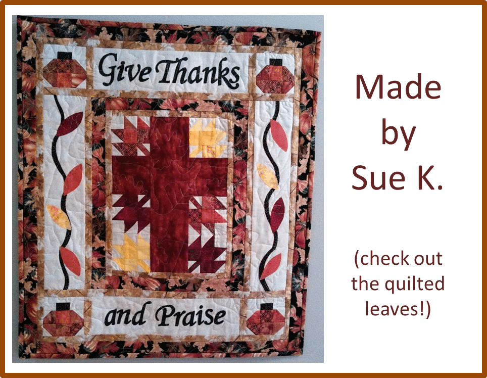 Christian Thanksgiving Quilt Sue K