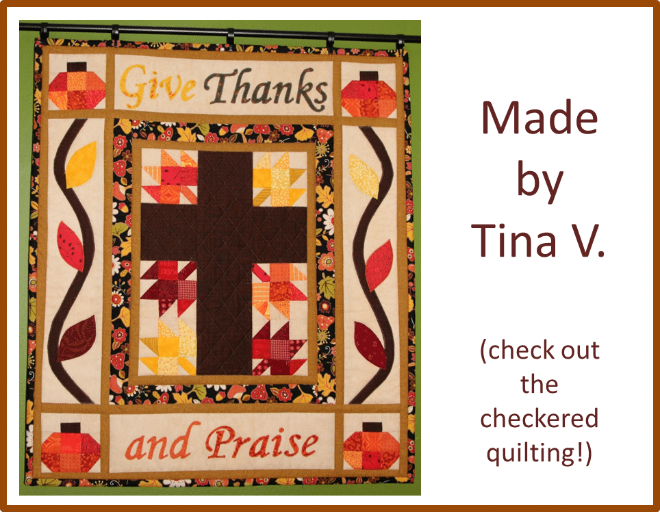 Christian Thanksgiving Quilt Tina V